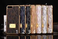 Wholesale iphone7 Note7 new fashion brand Luxurious Leather phone case for iphone7 Note7 cheap hard back cover