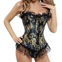 Wholesale 2016 Hot Sexy European palace Corset Waist Training Corsets body hot shapers waist trainer suitable for all large size S XL