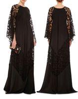 achat en gros de vêtements de taille petite-2017 plus de taille de dentelle noire arabe caftans robes de soirée Dubai Kaftans Abayas blanches musulmanes vêtements islamiques