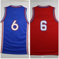 active materials - Erving New Material Rev Basketball Blue red Throwback jersey Best quality Embroidery Logos Size S XXL