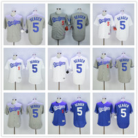 away grey - 2016 Flexbase MLB Los Angeles Dodgers Corey Seager Jersey Grey White Home Away