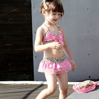 Wholesale 2016 Rushed for Medium Fashion Hot Sales Leopard Bikini Set Gril s Clothes Princess Kids Beach Swim Wear Baby Clothing Fission