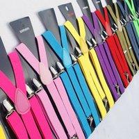 Wholesale Suspenders adult elastic adjustable solid Womens straps mens Multi braces cm Fashion Solid color straps Color