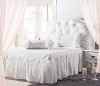 bedding bedskirt - Korean Style Princess Lace Bedding Sets cotton queen King Size Bedclothes Bed Linen Bedskirt Duvet Cover