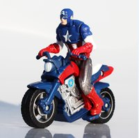 avengers motorcycle - Retail Superhero Captain America In Motorcycle Action PVC Figure Toys Movie Avengers Figures cm EMS