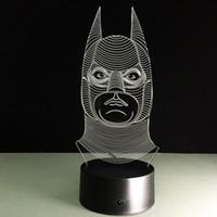 bats eggs - Bat man D Optical Illusion Lamp Night Light DC V USB AA Battery Dropshipping Retail Box
