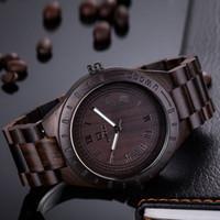 Cheap 2016 New Natural Black Sandal Wood Analog Watch UWOOD Japan MIYOTA Quartz Movement Wooden Watches Dress Wristwatch For Unisex