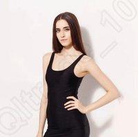 Cheap LJJJ109 Sexy Women Black Tight Dress Super Stretch Low-cut Sling Dress Vest Skirt Slimming Short Dress 50PCS