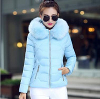 Wholesale Hot winter new Korean Slim trendy hair collar short section down jacket cotton jacket female