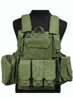 Wholesale US Molle Combat Strike Plate Carrier Vest OD Green