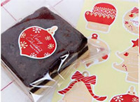 Wholesale 600pcs Red Christmas Sealing Sticker Adhesive Paper Label Bakery Gift Bag Box Decoration YN