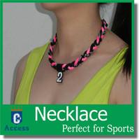 baseball circle - 2016 Titanium Ionic Sports Baseball Necklace quot quot quot quot rope Tornado Braid necklaces