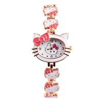 animal brand watches - 2016 New Brand Hello Kitty Cartoon watches Women children dress Quartz WristWatch kids hellokitty watches girls montre enfant