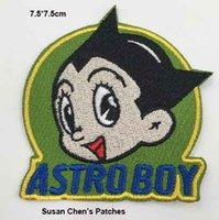 astro logos - Astro Boy Iron on Patch Badge embroidery patch embroidery patches logo embroidery patches embroidery patch for clothing