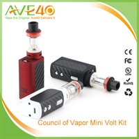 Cheap Original CoV Mini Volt Kit V2 40W in Black By The Council Of Vapor with Mini Volt Box Mod and Vengeance Mini Tank