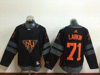Wholesale 2016 Men North America McDavid Matthews Eichel Larkin Black Olympics World Cup Hockey Ice NHL Jerseys Free Drop shipping