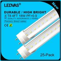 Cree llevó la garantía España-LEDVAS 25-Pack El bulbo de lámpara libre del tubo del envío 18W T8 LED SMD 2835 1800LM 1200m m 1.2m 4Ft AC85-265V enciende la iluminación Garantía de 2 años