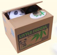 Wholesale Fast shipping hot sell Steal Coin Bank Piggy Bank Cute Automated Panda Money Saving Box Gifts