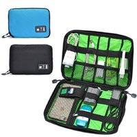 Wholesale 2016 Large Cable Organizer Bag Multifunctional Digital Storage Bag For Hard Drive Cables USB Headphones Headset Travel Messenger Bag