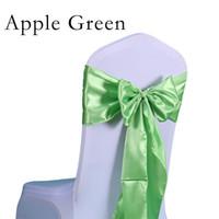 Chaise Bow Factory Prix 25pc / Set Ceinture en satin de haute qualité en satin Chaises en satin Chaise en satin Chaise en tissu Décoration