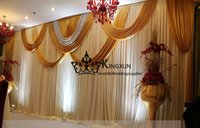 backdrops for sale - Hot Sale White Color Wedding Backdrop Curtain For Decoration With Gold Swags