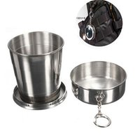 Wholesale 2016 ml Stainless Steel Camping Folding Cup Traveling Outdoor Camping Hiking Mug Portable Collapsible Foldable Cup Bottle