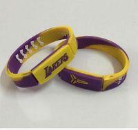 Wholesale 2016 Bryant decommissioned souvenirs Lakers basketball star silicone bracelet kobe Tide brand sports energy wristbands bracelet