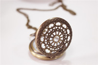 Wholesale DHL Free mix pattern brone classical pocket watch Pendant necklace watch big discount