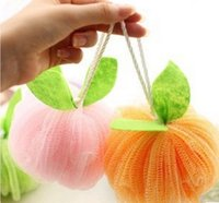 bath rope - Summer Household Flower Bath Ball Candy Colored Safe PE Bath Balls With Rope