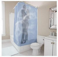 Wholesale Customs W x H Inch Shower Curtain Beauty Shadow Lovers Waterproof Polyester Fabric DIY Shower Curtain
