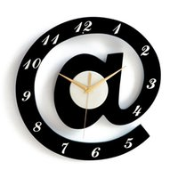 Wholesale Modern Personality Figurated Creative Home Craft Wall Clock Black Red Green Wood Clocks free ship