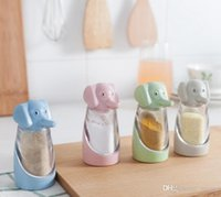 barbecued pig - Pepper Seasoning Cans Cute Elephant Barbecue BBQ Seasoning Box Salt Servers Wheat Straw Elephant Creative Kitchen Supplies Colorful New