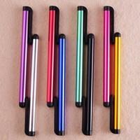 achat en gros de écrans tactiles à vendre-Vente en gros 10pcs Hot Sale universel stylo capacitif stylet pour tablette pour Smartphone stylet écran tactile coloré pour Samsung Livraison gratuite