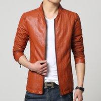 Wholesale Fall Plus Size XL fashion designer mens jackets Stylish Men PU Leather Jackets Casual Coat jaqueta masculina