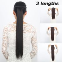 bandages clip - 3 Lengths quot quot quot Ponytail Clip In Hair Extensions Bandage type ponytails Straight Style Top Quality