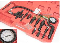 auto compression test - V Diesel Compression Tester Engine Diagnosis Testing High pressure hose Chrome plated gauge Auto Cars Truck Tractor