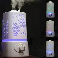 Wholesale 2016 Aromatherapy Diffuser Air Humidifier LED Night Light With Carve Design Ultrasonic Humidifier Air Aroma Diffuser Mist Maker