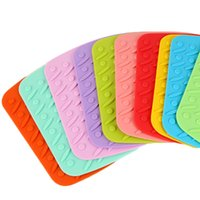 Wholesale Rectangle Thicken Silicone Trivet Mat Non Slip Flexible Durable Heat Resistant Hot Pads Tableware Insulation Pad Potholders tabel mats