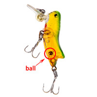 Wholesale Green Fishing Lure Minnow Bass Insect Bait for Grasshopper Freshwater Hard Baits Crank Bait cm g Yellow Hook Fishing Tackles