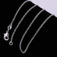 agate emerald - Fashion Jewelry Silver Chain Necklace Rolo Chain for Women Link Chain mm inch