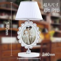 Wholesale Modern Chrome Table Lamps Desk Light With Photo Frame Europe Design Read Night Light Super Light Living Room Bedroom Table Lamp