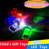 Wholesale Chistmas Magic finger lights LED Finger Lamp LED Finger Ring Lights Glow Laser Finger Beams LED Flashing Ring Party Flash Kid Toys