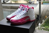Wholesale 2016 Hot New Top Quality Retro XII GS Valentines Day Dynamic Pink Women Basketball Sport Shoes