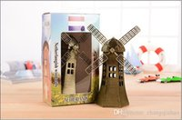 architecture works - Hot cm Metal Ornaments Dutch windmill souvenir World Architecture Model living room Decorative wrought iron free delivery