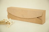 Wholesale 100pcs cm Brown Packaging Kraft Paper Macaron Box For Candy Cake Jewelry Gift chocolate Packing boxes