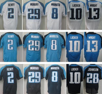 Wholesale Best Quality Derrick Henry Marcus Mariota Jersey DeMarco Murray Jake Locker Kendall Wright Chris Johnson Blue White