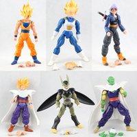 Wholesale 6inch Dragon Ball DBZ Anime Goku Vegeta Piccolo Gohan super saiyan Joint Movable dragon ball z action figures Toy DHL shipping E1339