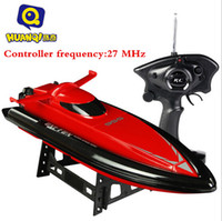 Wholesale Selling Radio Control Toys - Wholesale-2016 Hot Sell New 47cm large scale RC boat rc airship 2.4G RC Radio Remote Control Racing Boat RTR Speedboat Toys VS FT012