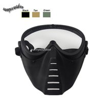 Wholesale Airsoft Paintball Shooting Equipment Face Protection Gear Full Face Bee Style Tactical PC Lens Paintball Mask