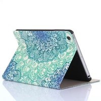 Cheap 2016 new arrival tablet case for IPAD lether cover Floral Pattern Flip Stand Leather Case Cover For iPad Mini 1 2 3 Retina